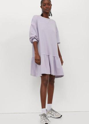 Новое платье свитшот h&m, модель оверсайз.