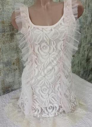 Красивое вечернее платье с кружевом и фатином xxs-xs madam rage