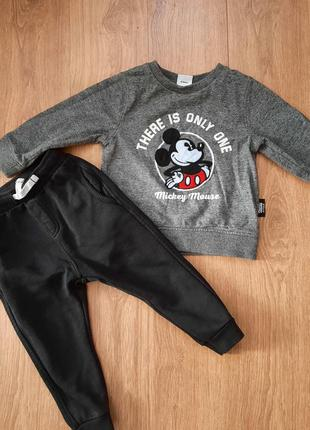 Костюм на мальчика штанишки свитер свитшот реглан спортивныей костюм  zara next