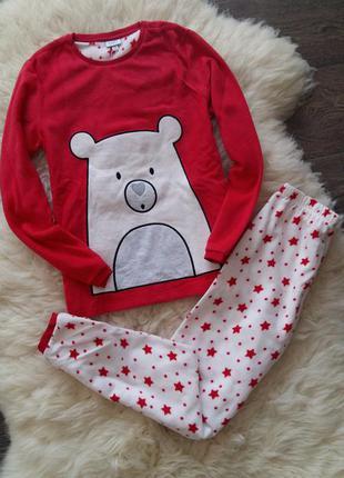 Теплая пижамка/костюм для дома ovs (италия) на 9-10 лет (размер 140)