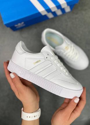 Лучшая цена! женские кроссовки adidas samba white топ качество