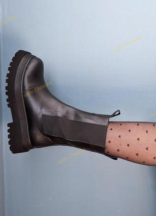 Челси в коже! женские демисезонные ботинки