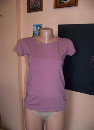 Розово-лиловая котоновая футболка турция мс