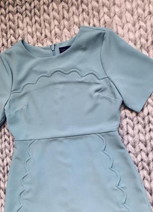 Стильное платье нежного голубого цвета topshop