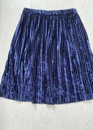 Сказочная юбочка непередаваемо красивый цвет, синий со сливой или баклажаном, или глубокий лиловый-
