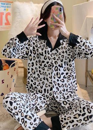 Стильная пижама/домашний костюм леопард