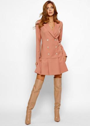 Платье-пиджак с расклешенной юбкой