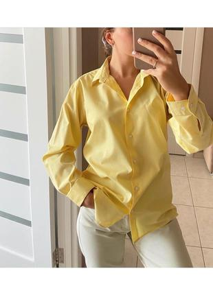Рубашка лимонная non iron