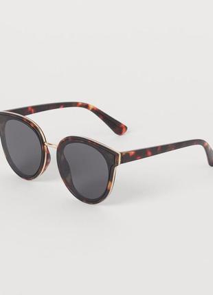 Очки сонцезахисні окуляри солнцезащитные коричневые стильные большие личиски