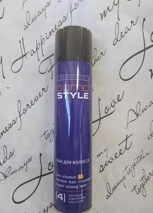 Domo style 4 - лак для волос, сверхсильная фиксация. аэрозольный баллон 300 мл