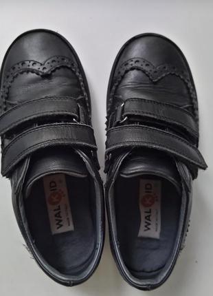 Туфли кожаные в школу черные на мальчика, 31 размер