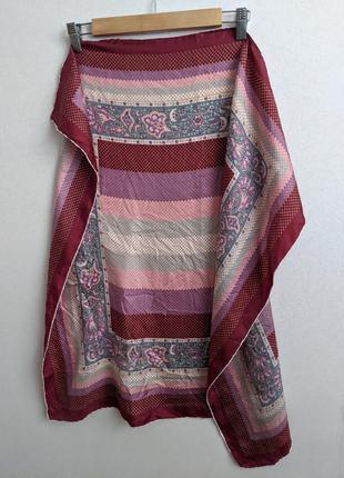Шелковый платок с узором, 100% шелк
