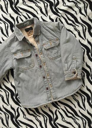 Тепла рубашка , куртка с мехом next
