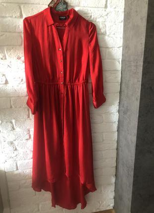 Платье only насыщенного красного цвета