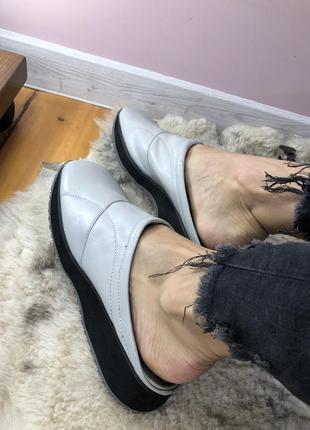 Идеальные мюли лодочки туфли натуральная кожа clark's
