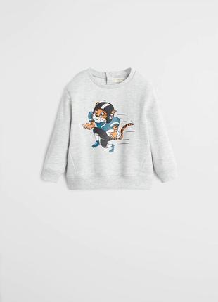 Классный свитшот, свитер, кофта, реглан для мальчика mango, размер 2-3 г, 92-98