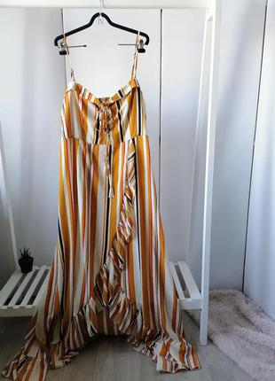 Роскошное платье boohoo,  р. 24 ▪️