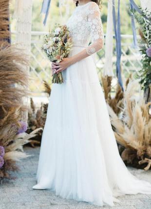 Свадебное платье в стиле бохо от esty style