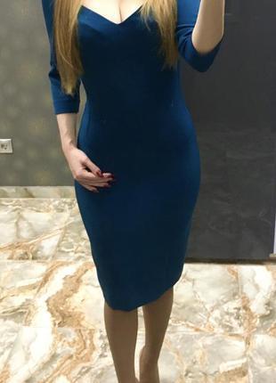 Платье-футляр byurse синее