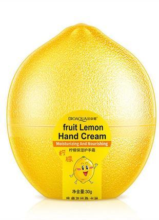 Крем для рук відбілюючий лимонний bioaqua fruit lemon hand cream (30г)