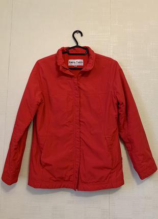 Красная куртка парка на флисе pulll&bear