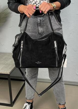 Жіноча модна сумка в кольорах чорний