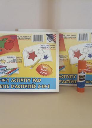 Набором упаковка бумаги 3 в 1 и клей-карандаш elmers