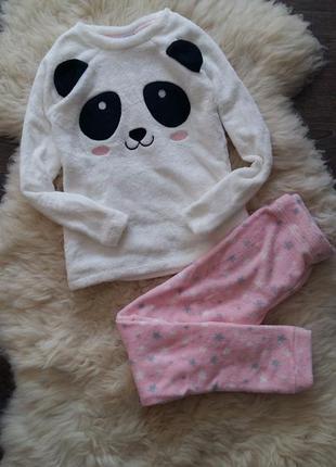 Теплая пижамка/костюм для дома ovs (италия) на 8-10 и 13-14 лет (размеры  128/134, 134/140, 158/164)