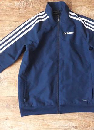 Спортивная кофта ветровка adidas climacool  на мальчика куртка на замке летняя осенняя весенняя зимняя распродажа лот обмен коллекция детская