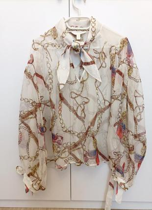 Красивая блузка с цепями h&m, размер s-l.