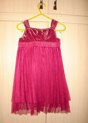 Шелковое платье monsoon на 12-18 мес