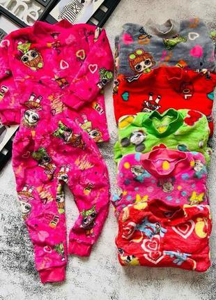 Тёплая детская пижама