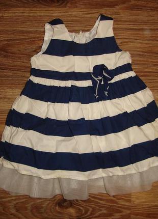 Pitterpatter платье в полоску на 3-6 мес , 100% коттон