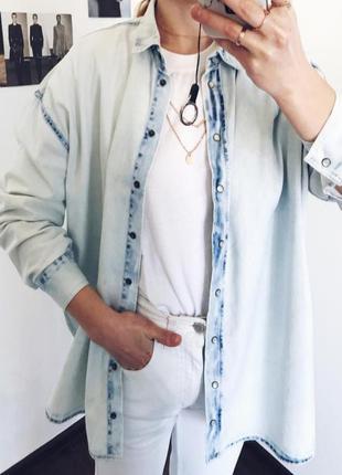 Джинсовая рубашка женская esmara от heidi klum р. м