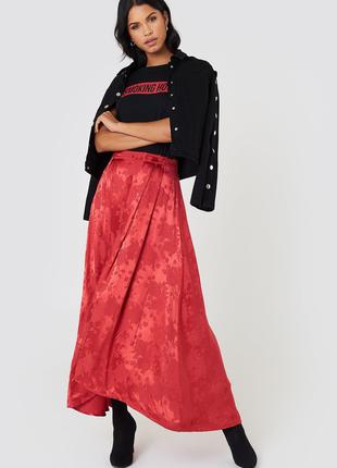 Спідниця жакардова gestuz юбка макси принт шелк