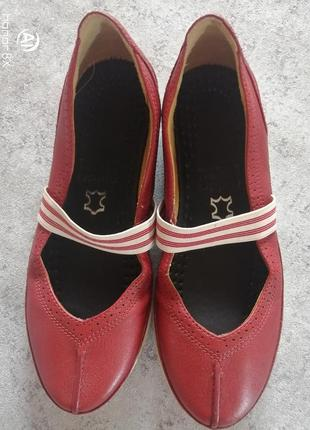 Кожаные туфли балетки clarks structured стелька 23,5 см