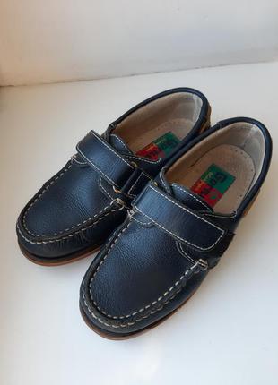Туфли кожа р.34 gorila испания мокасины топсайдеры