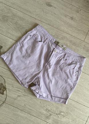 Женские шорты летние джинсовые лавандового цвета размер м
