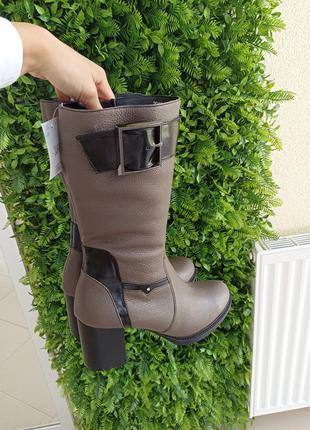 Зимові чоботи з натуральної шкіри