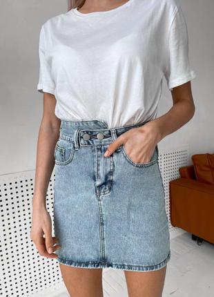 Джинсовые юбки на двух пуговицах идеальной посадки🔝🔝