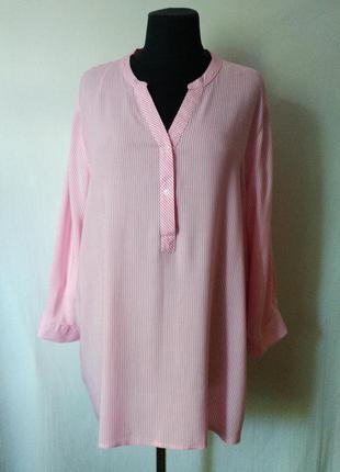 Натуральная блуза-рубашка в полоску janina германия