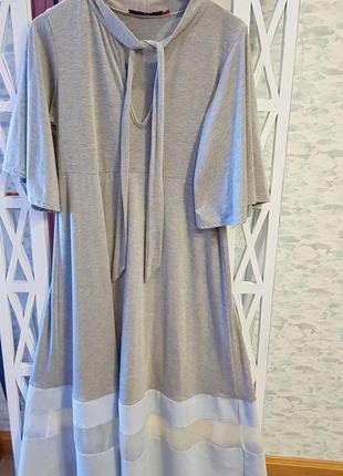 Стильное платье boohoo с прозрачной вставкой на юбке