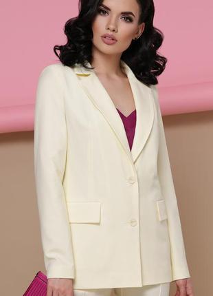 Стильный пиджак в цвете ваниль (s)