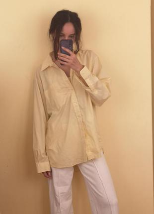 Рубашка оверсайз лимонного цвета