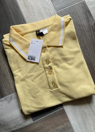 💛яркое желтое платье поло h&m англия💛