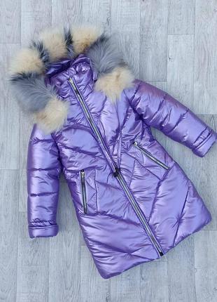 Удлиненная,  зимняя куртка 116-152