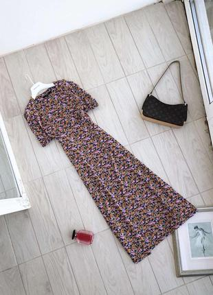 Платье в мелкие разноцветные цветочки сукня next