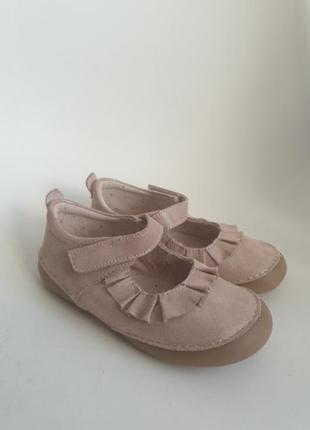Кожаные туфли vertbaudet из франции 27 р-р