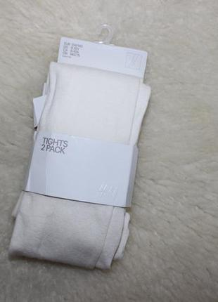 🌷  колготки для девочки h&m, набор колгот, размер 8-10 лет, 134-140см