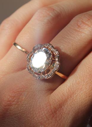 Красивейшее кольцо xuping с белым кристаллом ❄